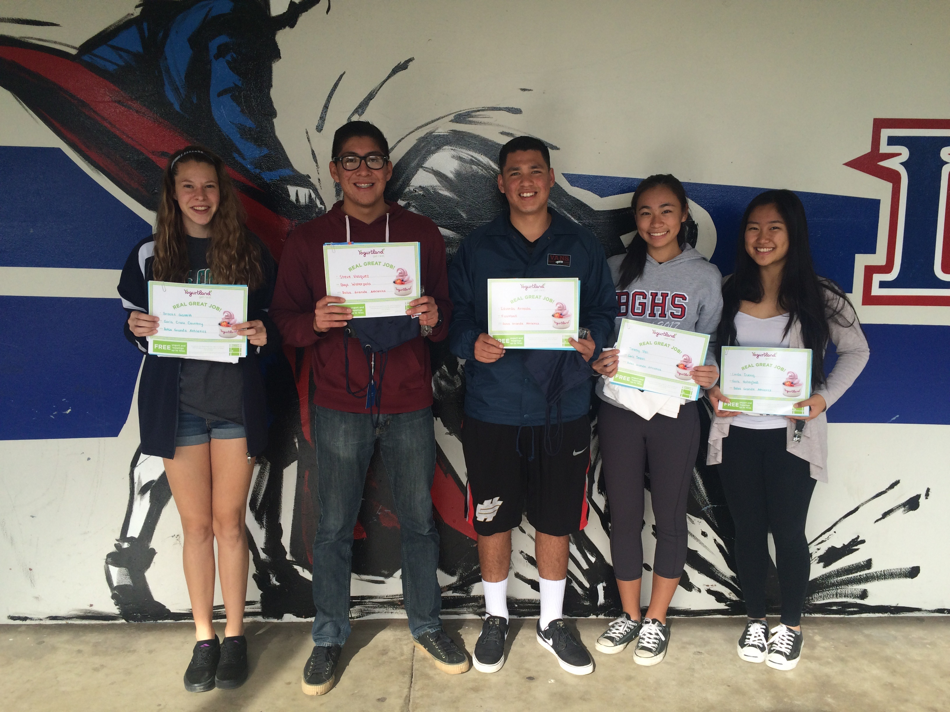Nov 2015 Athletes of the Month